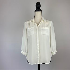 New York & Company Button Down Career Blouse